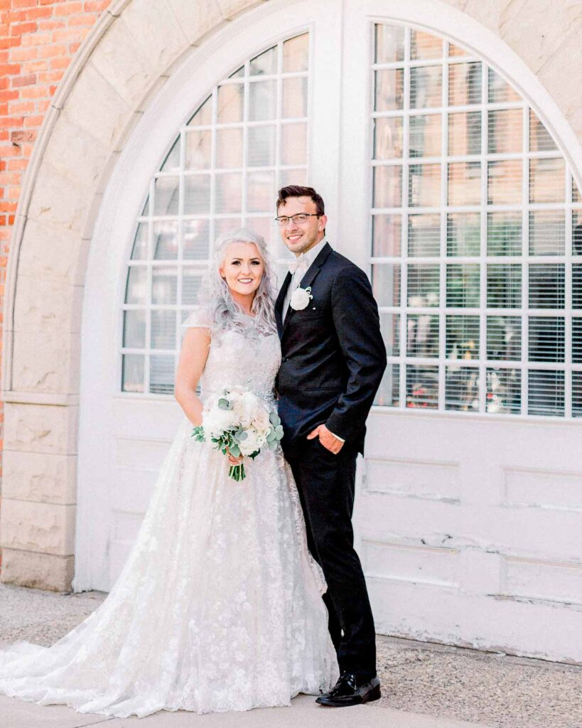 holly vault wedding bride and groom
