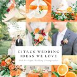 Citrus Inspired Michigan Wedding Styled Shoot at Venue One Eleven
