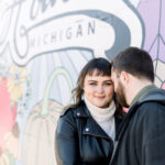 Downtown Engagement Photo Ideas | Howell, MI